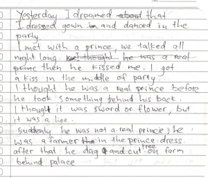 past tense story example